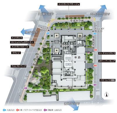 シティタワー銀座東 敷地配置完成予想図