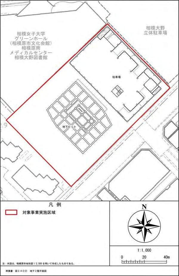 (仮称)相模大野4丁目計画 地下2階平面図
