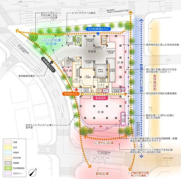 平井五丁目駅前地区第一種市街地再開発事業 整備方針