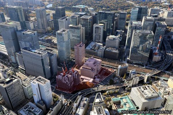 TOKYO TORCHの建設地の空撮