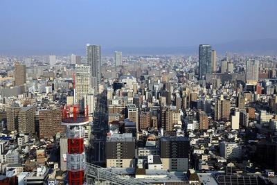 ホテル阪急インターナショナルから東側の眺め