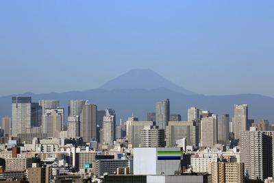 船堀から見た勝どき・富士山方面の眺め