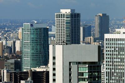 コンラッド東京から見た白金・目黒方面の眺め