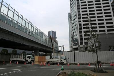 環状2号線と勝どきザ・タワー