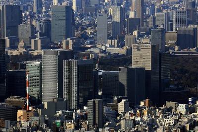 東京スカイツリーから見た大手町方面
