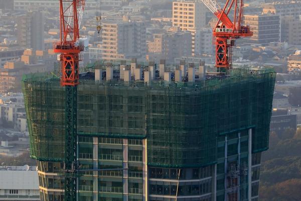 渋谷スカイから見たパークコート渋谷ザ タワー