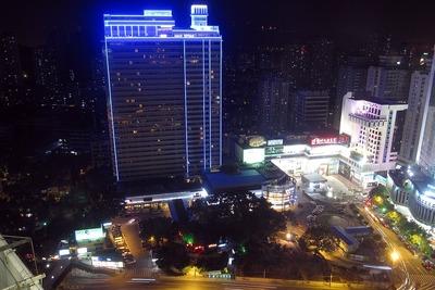 広州の花園酒店(Garden Hotel)の最上階レストランからの眺め