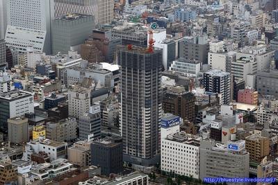 ブランズタワー南堀江の空撮