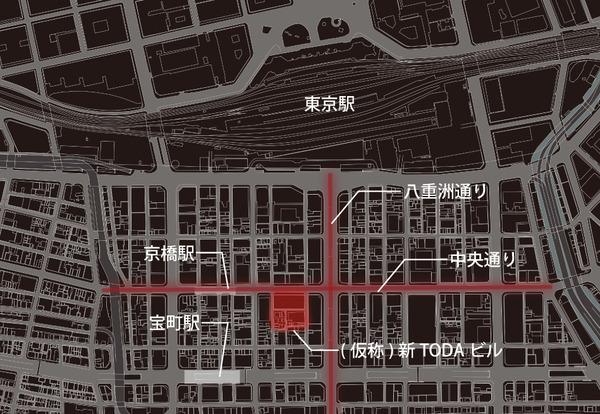 (仮称)新TODAビル計画 位置図