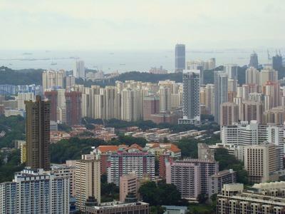 シンガポールのタワーマンション群