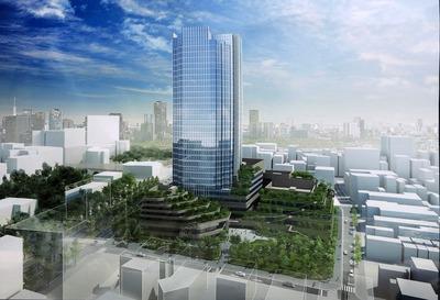 四谷駅前地区第一種市街地再開発事業 完成予想図