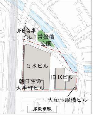 TOKYO TORCH 再整備前配置図