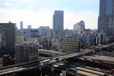 渋谷ヒカリエから見た渋谷駅桜丘口地区再開発計画方面