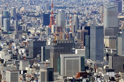 東京スカイツリーから見た(仮称)日本橋二丁目地区北地区新築工事
