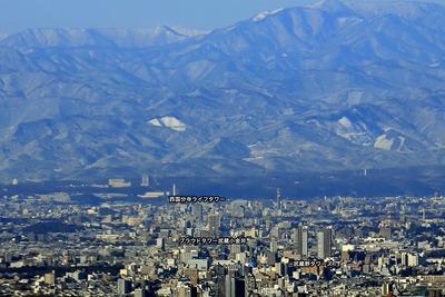東京スカイツリーから見た立川方面