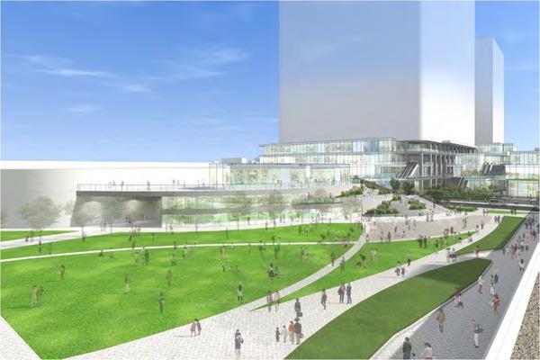 大井町駅周辺広町地区開発 完成イメージ