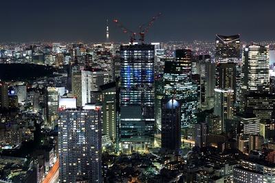 住友不動産六本木三丁目東地区プロジェクト方面の夜景