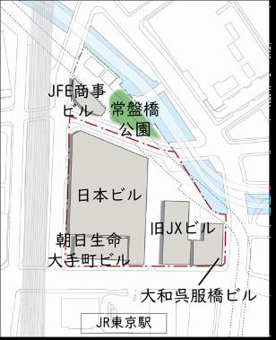 TOKYO TORCH 整備前配置図