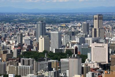 円山から見た札幌市街