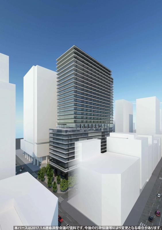 新橋田村町地区市街地再開発事業 完成予想図