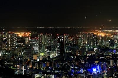 六本木ヒルズから芝浦・港南方面の夜景