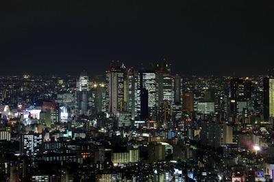 サンシャイン60から新宿の超高層ビル群の夜景