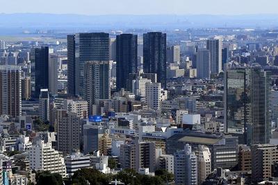 恵比寿ガーデンプレイスから見た大崎・大井町方面