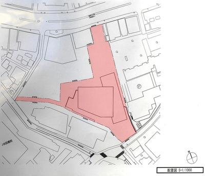 (仮称)麹町五丁目計画 配置図