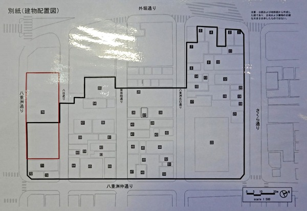 東京駅前八重洲一丁目東B地区第一種市街地再開発事業 配置図
