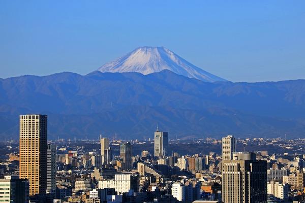 東京タワーから見た初富士
