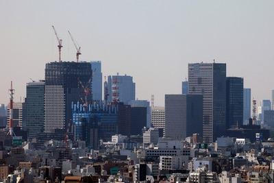 アサヒビールタワーから見た大手町の超高層ビル群