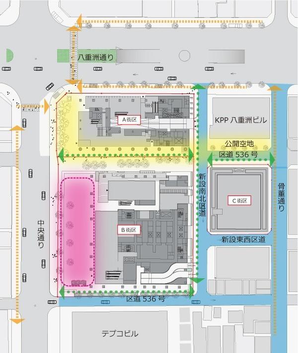 (仮称)新TODAビル計画 配置図