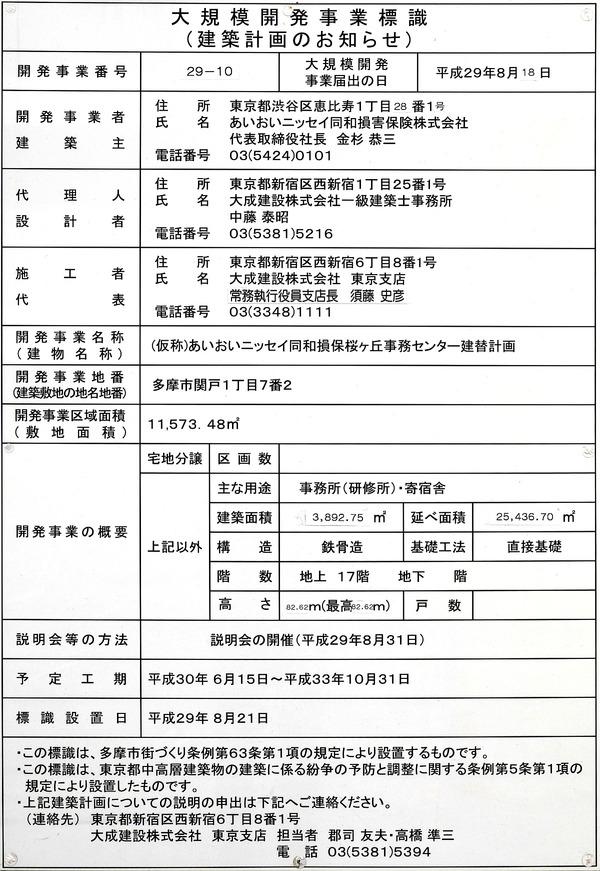 (仮称)あいおいニッセイ同和損保桜ヶ丘事務センター建替計画 建築計画のお知らせ