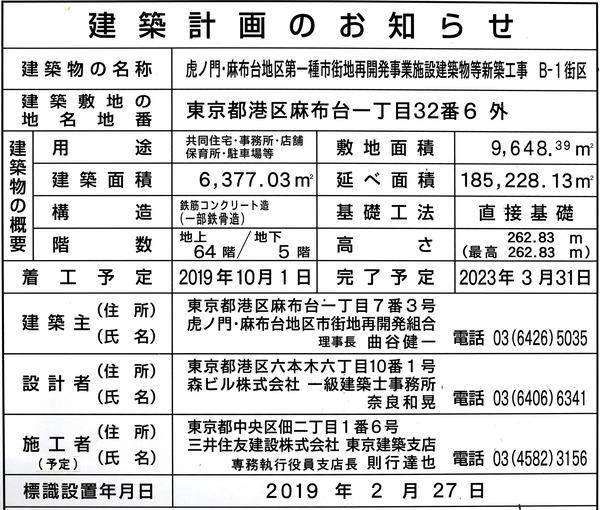 虎ノ門・麻布台プロジェクト 西棟(B-1街区) 建築計画のお知らせ