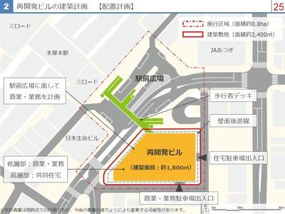 本厚木駅南口地区第一種市街地再開発事業 配置図