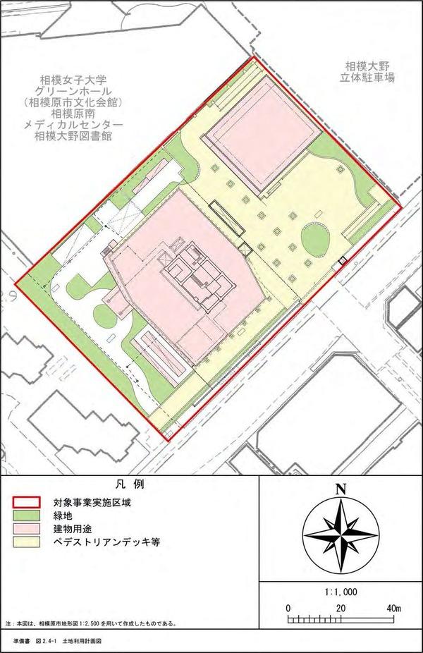 (仮称)相模大野4丁目計画 土地利用計画図