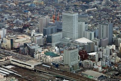 大宮の超高層ビル群の空撮
