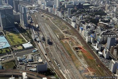 アパホテル〈品川 泉岳寺駅前〉の空撮