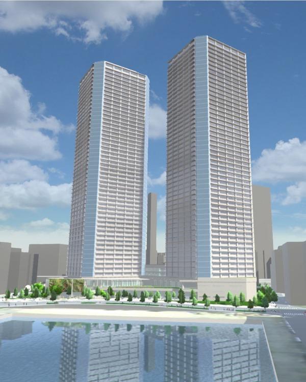 豊海地区第一種市街地再開発事業 完成予想図