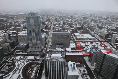 JRタワーから北口方面の眺め