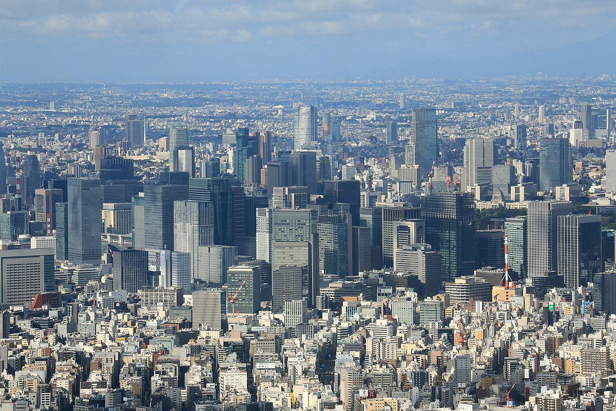 東京スカイツリーから見た東京 ...