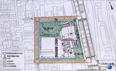 四谷駅前地区第一種市街地再開発事業 配置図