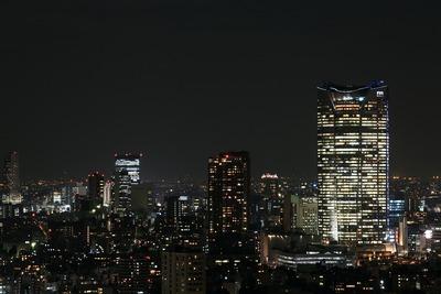 世界貿易センタービルから見た六本木ヒルズの夜景