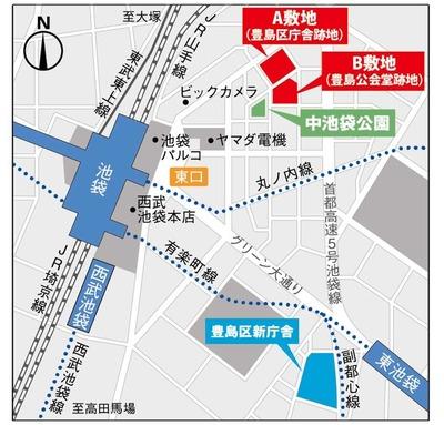 (仮称)豊島プロジェクト 計画地位置図