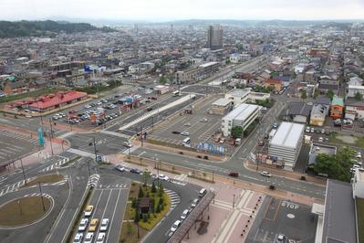 秋田拠点センター アルヴェからの眺め