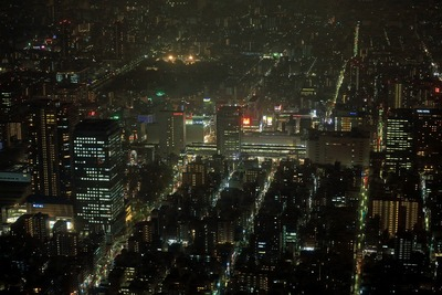東京スカイツリーの天望回廊から見た錦糸町