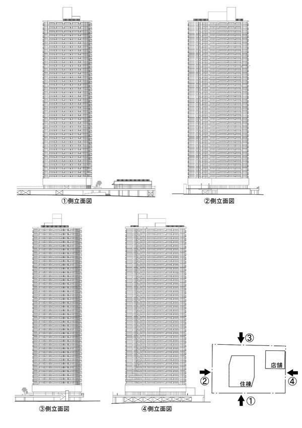 (仮称)相模大野4丁目計画 立面図