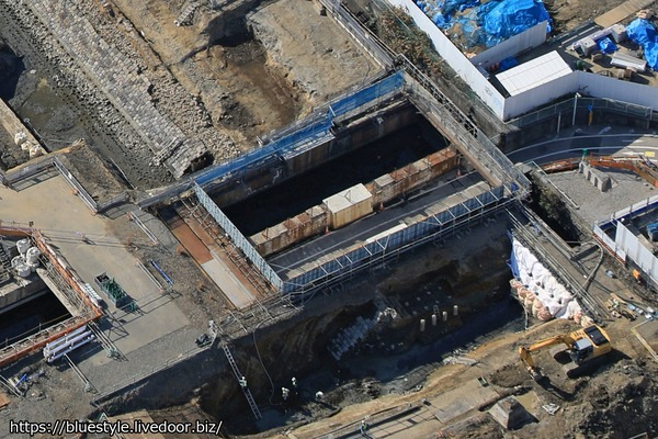高輪築堤の空撮