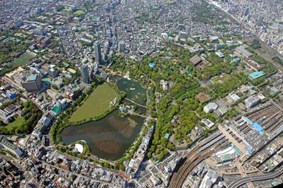 空撮 上野公園