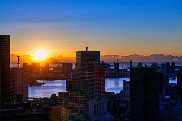 東京タワーから見た初日の出
